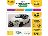Citroen DS3 1.4VTi ( 95bhp ) DSign FROM £25 PER WEEK !