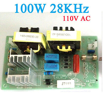100w 28khz Ultrasonic Cleaning Power Driver Board 110v Ac Frequency 281 Khz