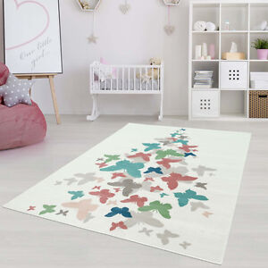 Multicolour Butterflies Area Rug,Living Room,Bedroom,Kids Room