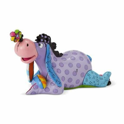 DISNEY BY BRITTO EEYORE LYING MINI FIGURE W BUTTERFLY ON NOSE  MINATURE 6001309
