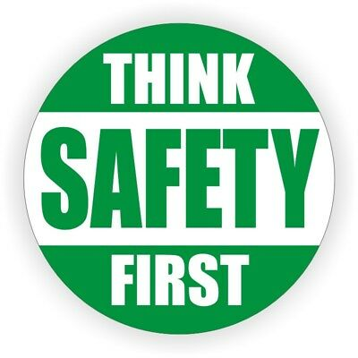 Think Safety First Hard Hat Decal | Label Helmet Sticker Safe Worker Laborer for sale  Shipping to India