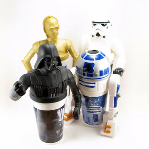 STAR WARS Vintage Collectible Cups Vader Stormtrooper R2D2 C3PO