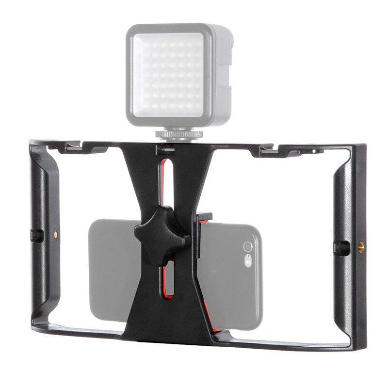 Video Stabilizer Rig Camera Cage Handheld Film Grip Stabilizer for Smart PhoIBU