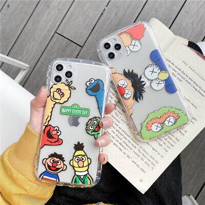 Kaws Sesame Street Family Clear Soft Case For iPhone 11 X XR XS Max 6 7 8 Plus Sesame Street Sheer