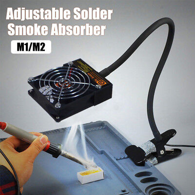 12v Adjustable Solder Smoke Absorber Fan Fume Extractor Portable With Clamp
