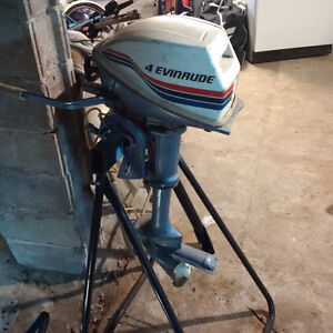 Looking to trade 4Hp Evinrude and cash for bike