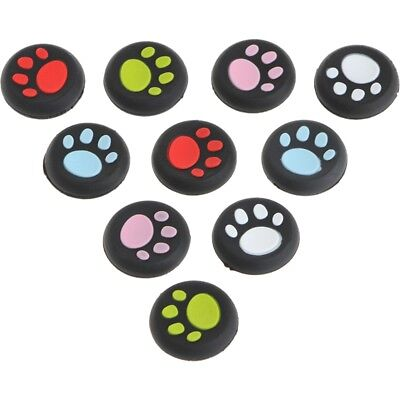 10Pcs/Set Cat Claw Silicone Thumbstick Grips Caps For Sony PlayStation 4 PS4