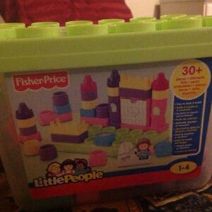 Fisher price Little people blocks pink girl toys