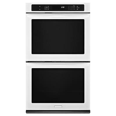 "KitchenAid KEBS209BWH 30"" White Built-In Double Oven w/Evenheat NIB #9544"