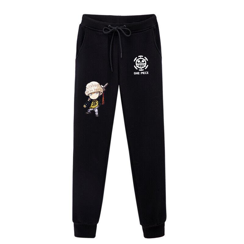 Anime One Piece Go to Sail Mens Pocket Casual Sweatpants Long Pants