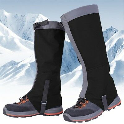 Waterproof Mountain Hiking Hunting Boot Gaiters Snow Snake High Leg Shoes Cover (Leg Shoes)