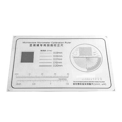 Microscope Micrometer Round-shaped Particle Transparent Film Calibration Ruler