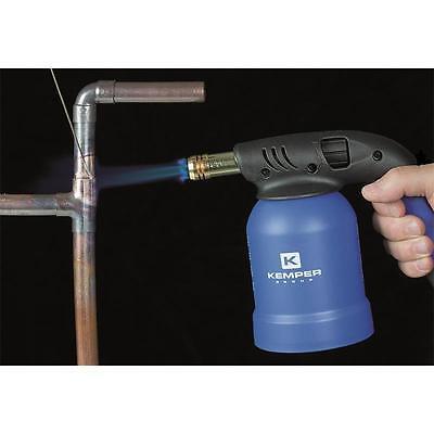 Kemper Lötlampe Lötbrenner Bunsenbrenner inkl. 4 x Gas Kartuschen