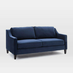 "West Elm - Paidge Sofa Couch (72.5"") Ink Blue - Like new!!"