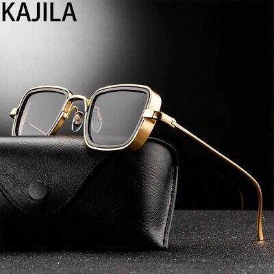 Vintage Steampunk Sunglasses Retro Metal Square Eyewear Trendy Unisex Brand
