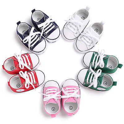 Classic Crib Shoes (Classic Style Newborn Baby Boys Girls Crib Shoes Infant Sneakers PreWalker)