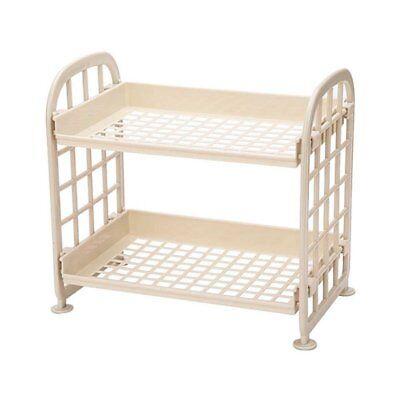 Storage Shelves,Plastic Small Storage Shelves - 2 Tier Shelf Shelving,Kitch M5B6