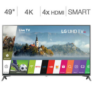 LG 49'' 4K UHD Smart LED TV WebOS 3.0 – Brand new, Generic Stand