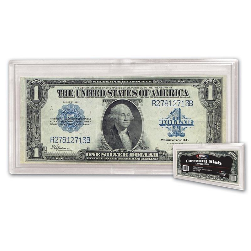 1 Case of 8 Packs 400 BCW Deluxe Large Bill Currency Holder