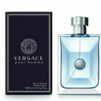 Versace Pour Homme 200ml Eau De Toilette Spray Brand New & Sealed Box Free P&P