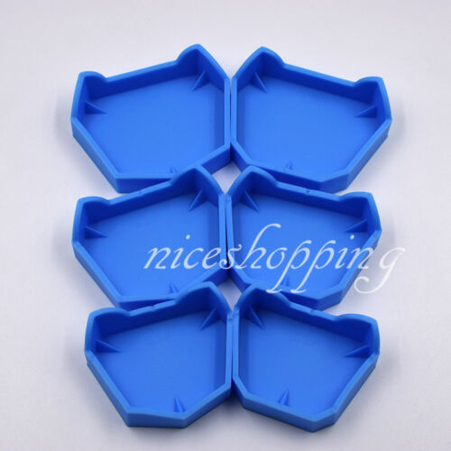 1 Kit Dental Rubber Lab Plaster Model Former Base Molds Tool Tray Blue Silicone