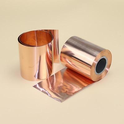 1pcs 99.9 Pure Copper Cu Metal Sheet Foil Plate Strip 0.01mm X 100mm X 1000mm