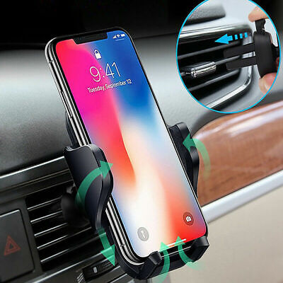 360° Car Universal Air Vent Mount Phone Holder Stand For iPhone X XR XS Samsung