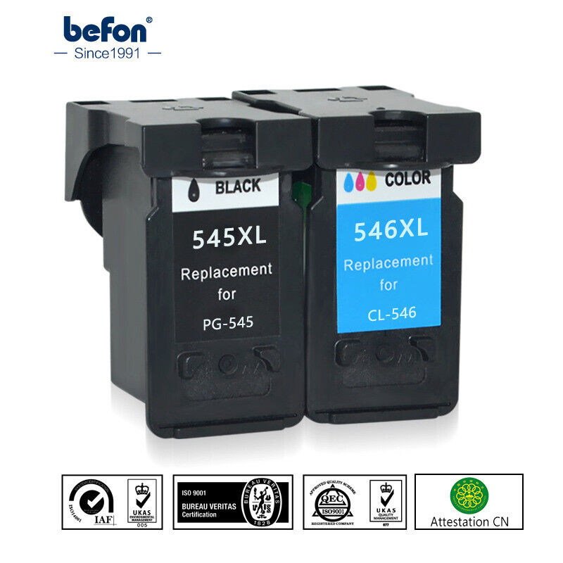 2 ink cartridges printer canon 545 546