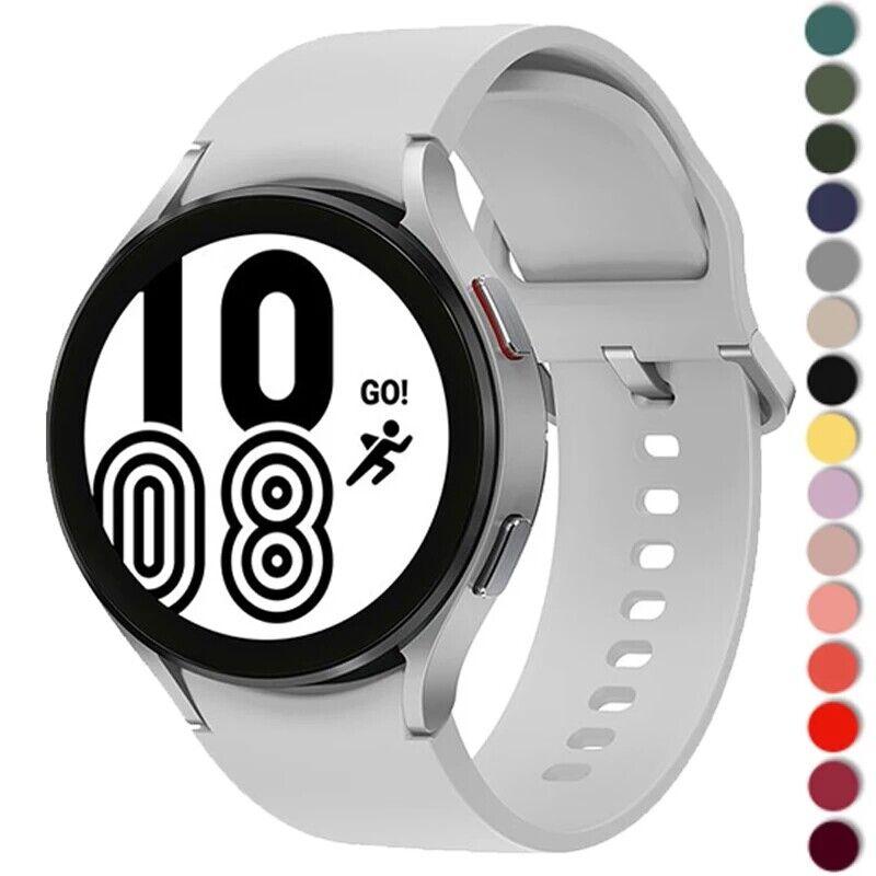 For Samsung Galaxy Watch 4 40/44 classic 46/42mm Silicone Ridge Sport Band Strap