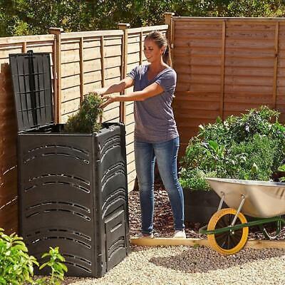 Large 500L Compost Bin Organic Waste Eco Friendly Plastic Recycling Garden Black