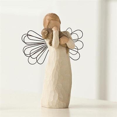 Angel of Friendship Puppy Dog Willow Tree Figurine Susan Lordi Demdaco 26011 New