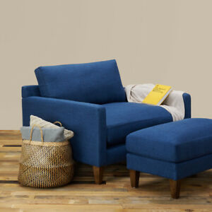 Oversized Lounge Chair w. Ottoman | NEW 20% Coupon Code | Wudern