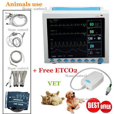 Cms8000 Vet Veterinary Patient Monitor Capnograph Vital Signs 7 Parameter Etco2
