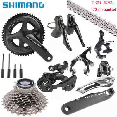 Shimano UT R8000 Ultegra Full Road Groupset Group 52/36t 170mm 11-25t 2018 New, used for sale  Shipping to Ireland