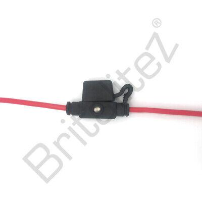 LED Indicator Mini Blade Inline Fuse Holder 20A