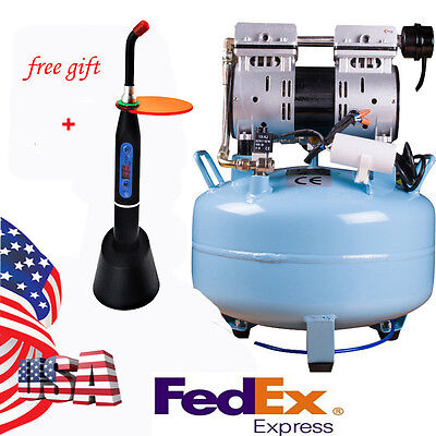 1 For 1 Silent Oil-free Noiseless Oilless Air Compressor 30l 550w 130lmin Usa