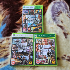 3 GTA games on the xbox360 / sell all together or will split