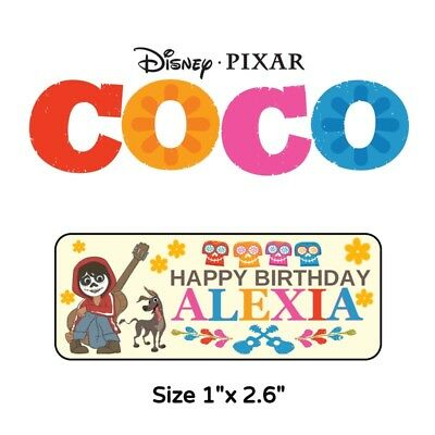 50 Coco Birthday Party Stickers Labels For Goodie Bags Or Favors - Goodie Bags For Birthday Party