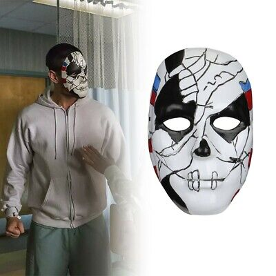 Punisher Billy Russo Mask Jigsaw Scary PVC Mask Cosplay Halloween Party Props ](Jigsaw Masks Halloween)