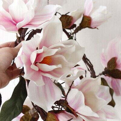 Artificial Fake Silk Magnolia Flower Garland Wedding Party Home Decor GIFT ()