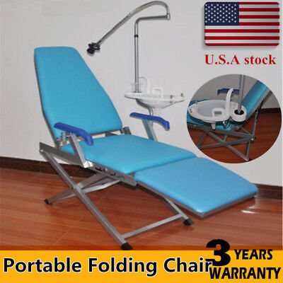 Portable Dental Folding Chair Unitwater Supplyled Lightplastic Spittoon New