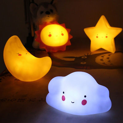 Cloud Sun Night Sleeping Lamp Baby Room Cartoon Light Kids Bed Lamp For Gifts