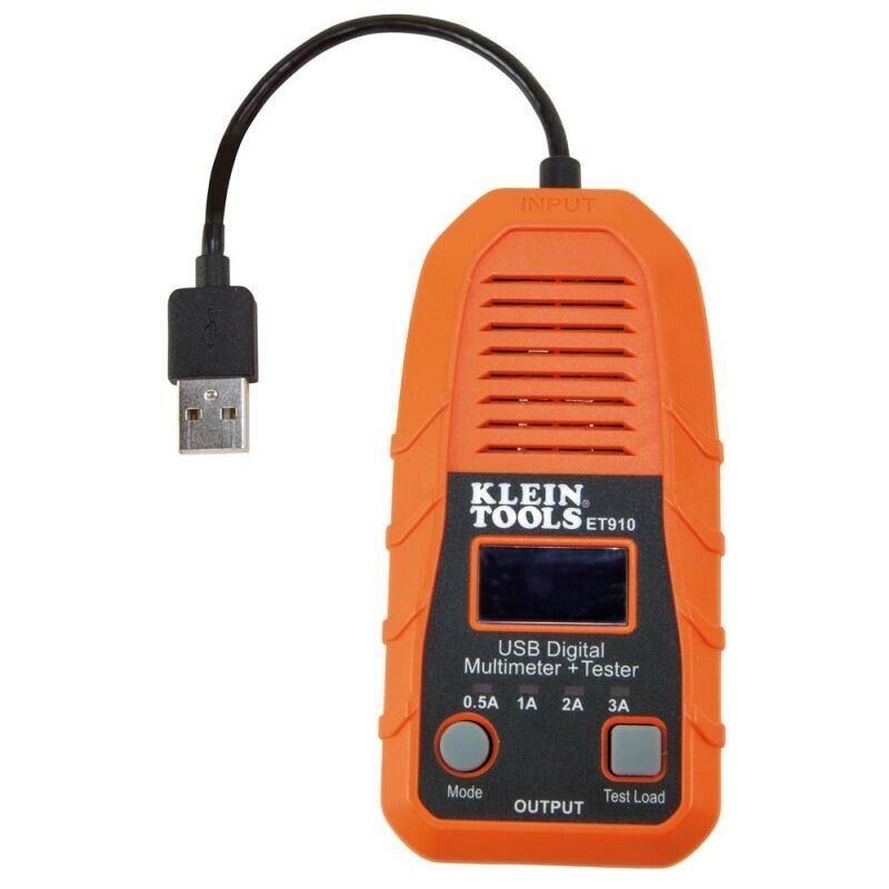 Klein Tool USB Port Digital Meter and Tester USB-A