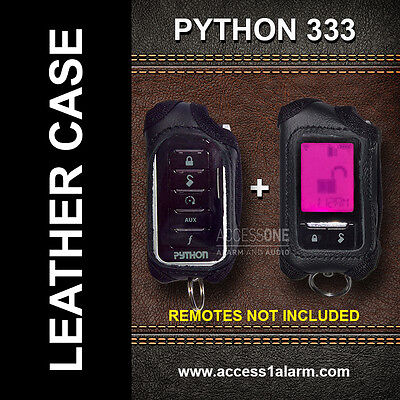 Python 333 Protective Leather Remote Control Case For Both Remote Controls