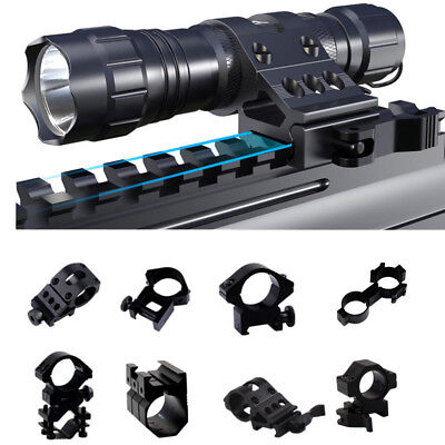 Hunting Tactical Picatinny Rail Scope Ring Mount Holder for Flashlight Rifle -