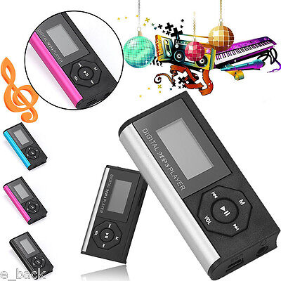 Mini Clip Usb Mp3 Music Media Player Lcd Screen Support 32Gb Micro Sd Tf Card