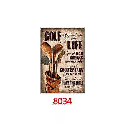 Metal Tin Sign golf life Bar Pub Home Vintage Retro Poster Cafe - Golf Pub Sign