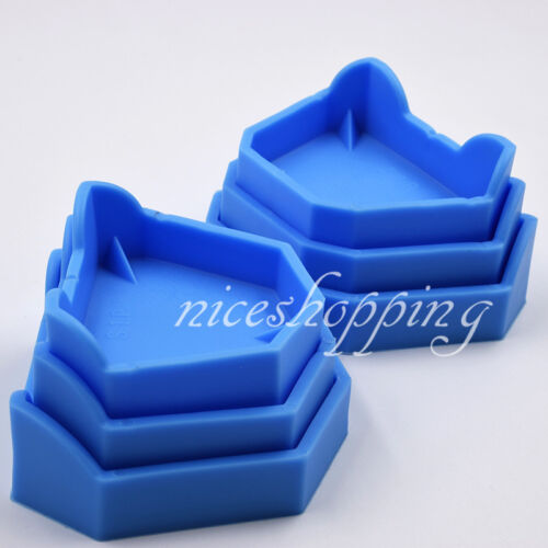 12 Pcs Rubber Dental Lab Plaster Model Former Base Tray Tool Molds Blue S/M/L