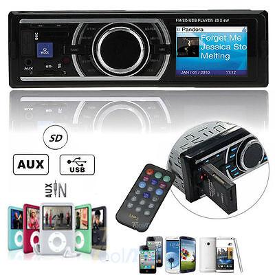 Car Auto Stereo Audio In Dash Aux Input Receiver W Sd Usb Mp3 Fm Radio Player Hc