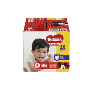 2 unopened boxes of Huggies size 4.. diapers - 96 in each